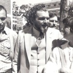 Libertação de UniversindoDíaz e Lilian Celiberti, com Jair Krischke no centro (Foto Arquivo Pessoal Jair Krischke)