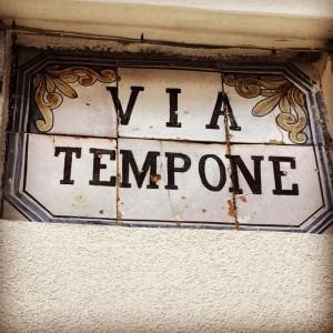 Via Tempone, a rua do nonno (Foto Daniela Prandi)