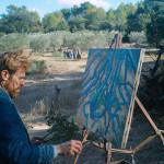 Van Gogh (Defoe) pinta ao ar livre (Foto Divulgação)