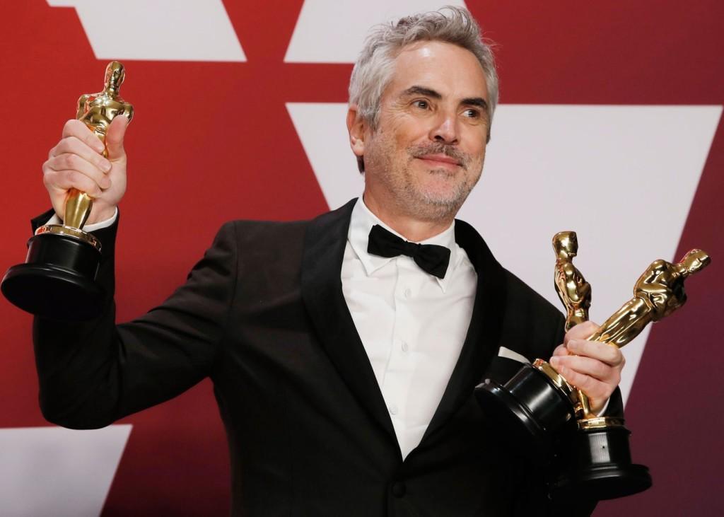 """Por """"Roma"""", Alfonso Cuarón levou três estatuetas para casa (Foto Divulgação/The Academy)"""