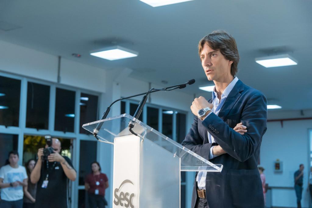 Jacopo Crivelli Visconti, curador da Itinerância e da 34ª Bienal (Foto Martinho Caires)