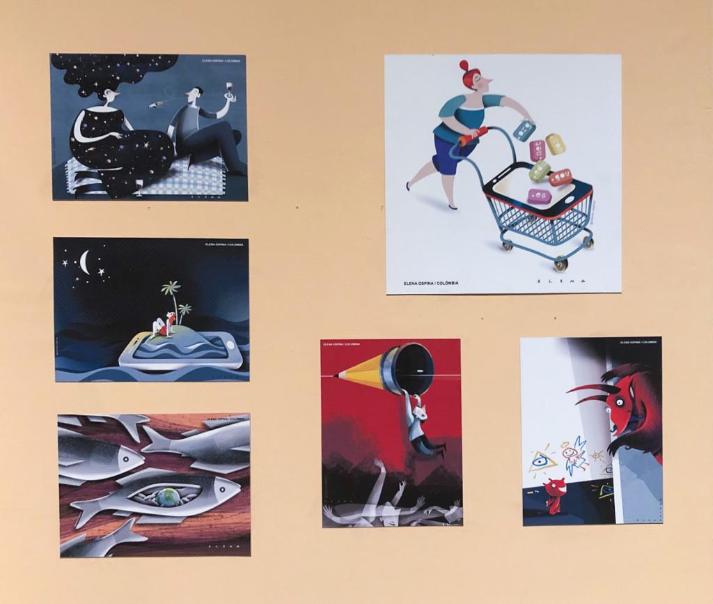 Alguns dos trabalhos da mostra em Piracicaba (Foto Divulgação)