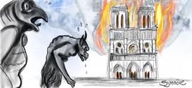 Incêndio na Catedral de Notre-Dame. Por Synnöve Hilkner