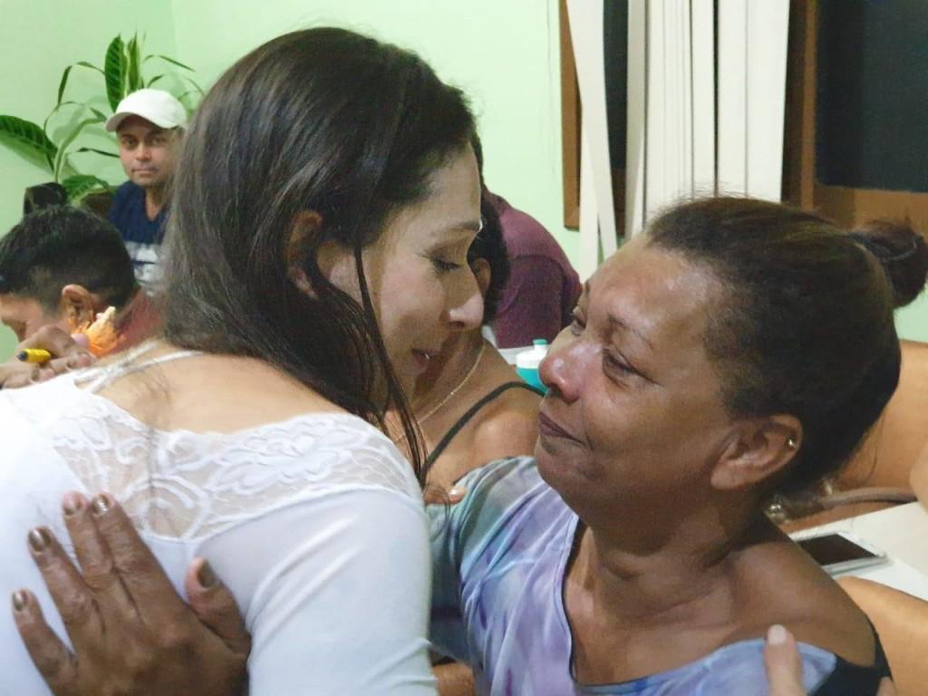 Encontro da relatora Alice Cruz com moradores da ex-colônia de Marituba (Foto Artur Custódio/Morhan)