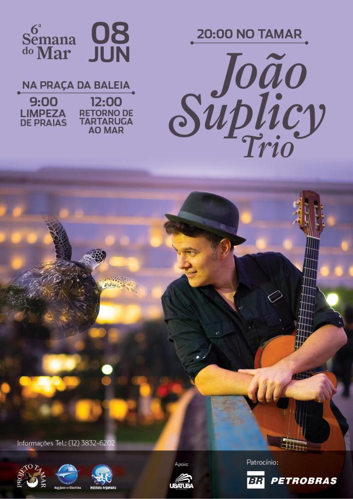 No dia 8 de junho, encerramento com show de João Suplicy Trio