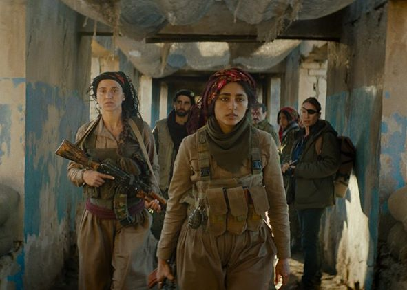 """""""Filhas do Sol"""": uma jornalista francesa e um batalhão de soldadas curdas (Foto Divulgação)"""